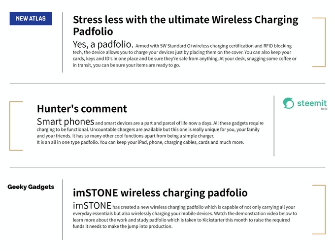 Innovative imSTONE Wireless Charging Padfolio 2 0 by imSTONE