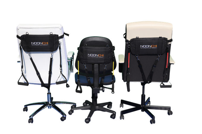 The Noonchi ultimate chair workout Easily clips on to YOUR existing office chair!