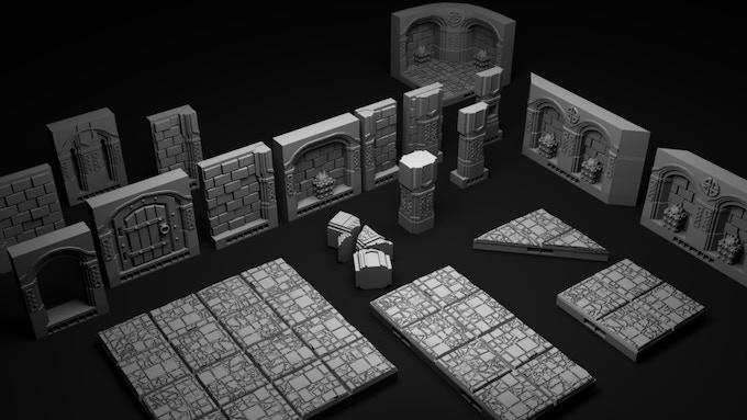 Dwarven Hold Dungeon Tiles