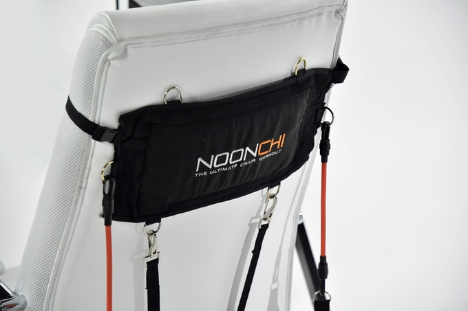The Patent Pending Noonchi chair workout is made of high quality materials that are built to last. The Noonchi has a sleek design. It was designed to fit in your office area without taking up any space.