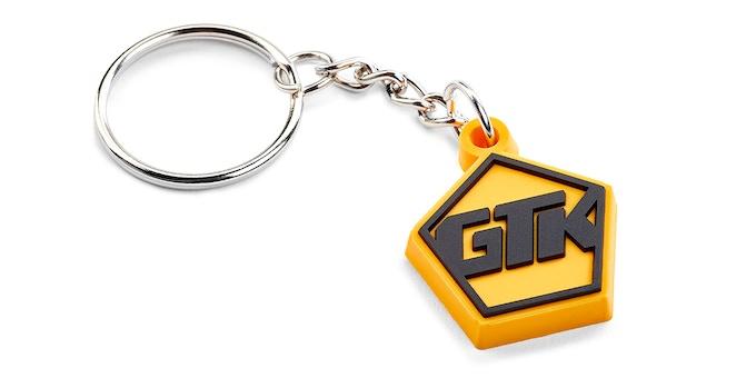 Branded GTK rubber key fob