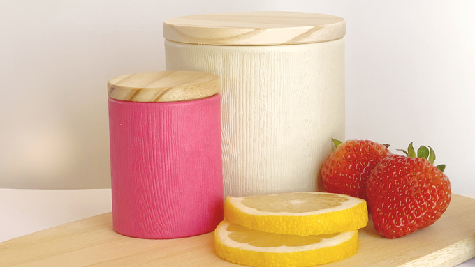 Our packaging is made from kraft paper, cardboard, spray film to make it food-grade safe and a pine wood lid.