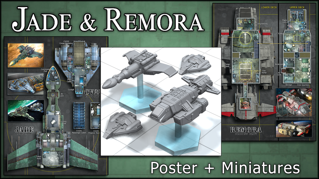 Jade & Remora: Starship Maps & Miniatures project video thumbnail