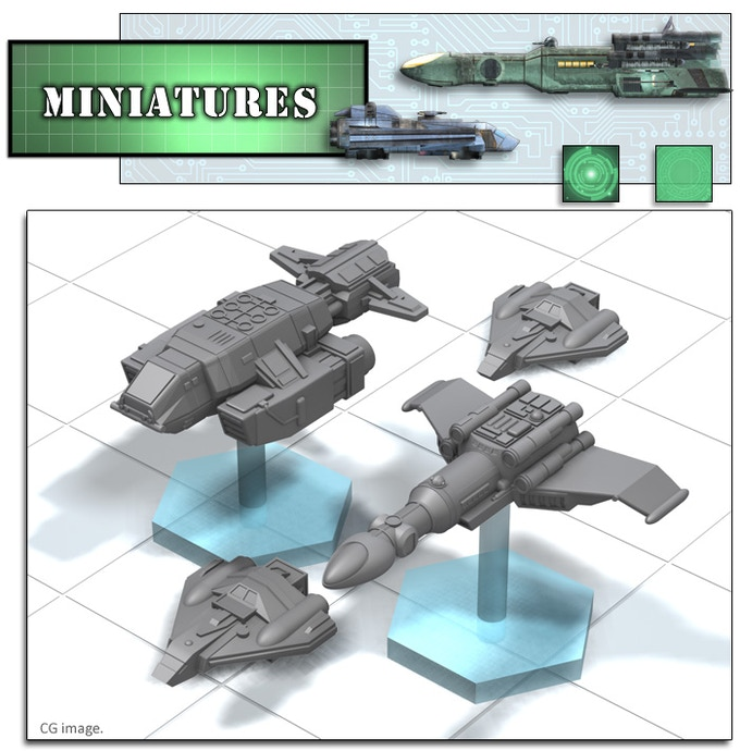 Jade Amp Remora Starship Maps Amp Miniatures By Ryan Wolfe