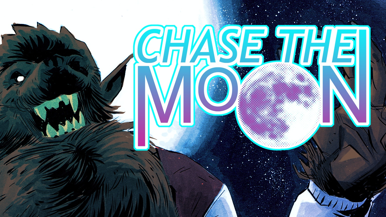 Chase the Moon is a 100-page Graphic novel about two crazy kids in love in the middle of an all-out, citywide monster gang war.
