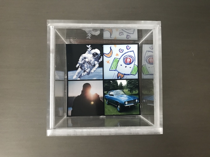 """A 3.25"""" Square Photo Payload - Divided Into 1.75"""" Rideshare Squares"""