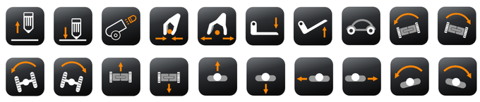 PINGPONG icons for various activity