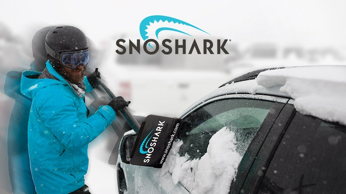 "SnoShark is the first premium snow removal tool on the market and the last one you'll ever need to buy! With a 39"" reach this tool will GET YOU ON THE ROAD FASTER yet collapses down for convenient storage in your vehicle. Shop SnoShark.com."