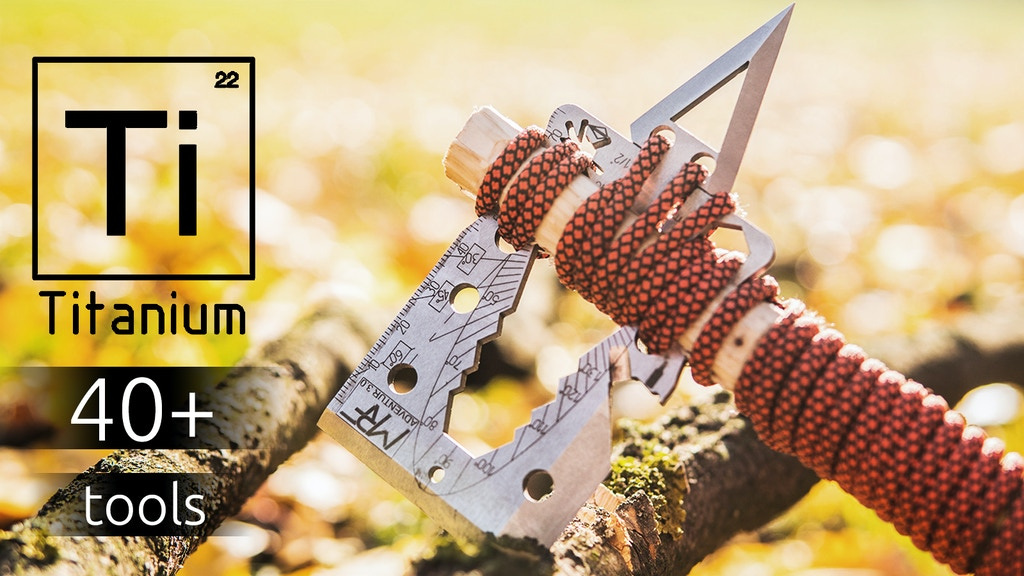 Adventur 3.0 Titanium Survival Credit Card Axe Multi Tool project video thumbnail