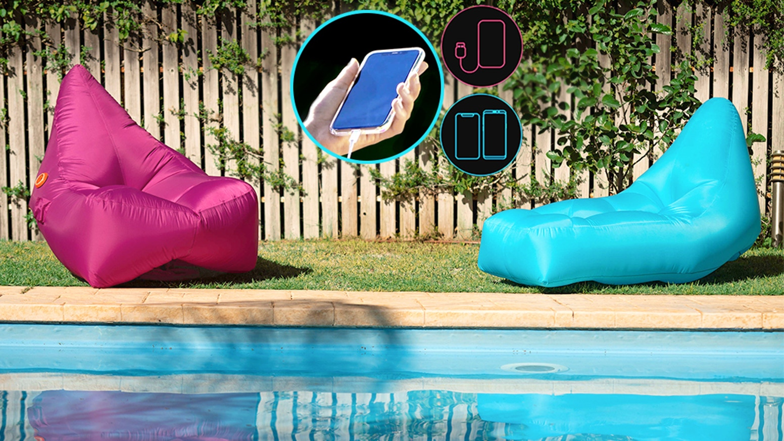 Air Loungers are great- but this one's incredible. Plug in any phone or battery, watch it inflate and relax like royalty.