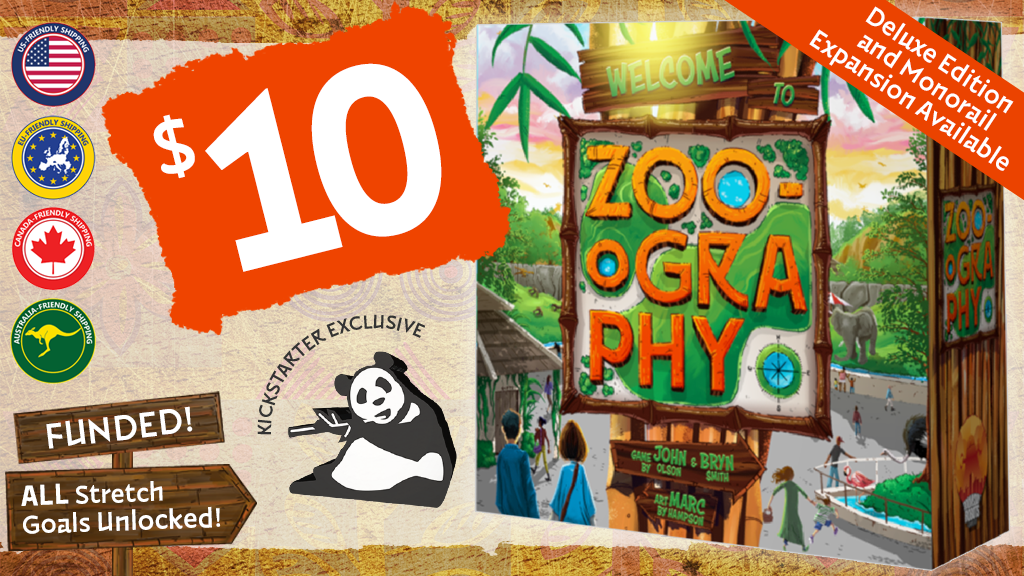 Zoo-ography : A Tile Laying Zoo Builder Game for 1-4 Players project video thumbnail