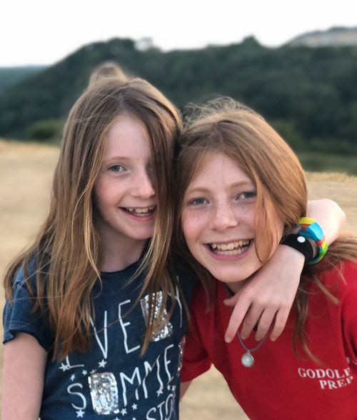 Sophie and Lucy, my daughters