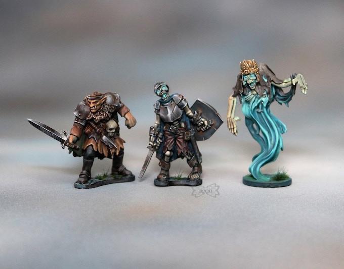 Hobgoblin, Skeletal Warrior, Wraith