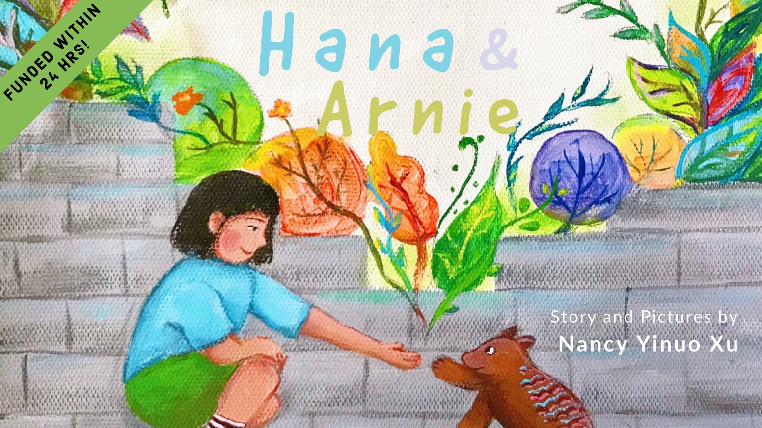 A colorful, hand-painted children's book about how a girl taught her town to embrace diversity. Written and illustrated by a student.