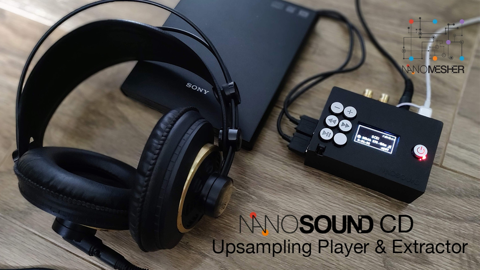 NanoSound CD is an Upsampling CD Player , Lossless Audio Extractor & Network Audio Player with Hi-Fi DAC, infrared and mobile control