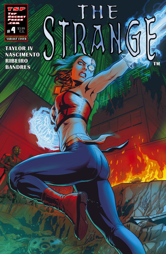 The Strange #4 Cover B by Atilio Rojo (Cyberforce 2018)