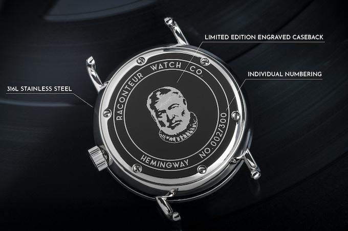 Limited edition Hemingway caseback