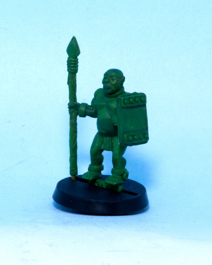 Slave Warrior with Spear and Shield (master sculpt shown) - C