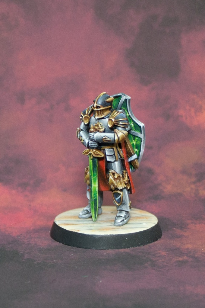 Knight Envoy, painted by Centerpiece Miniatures