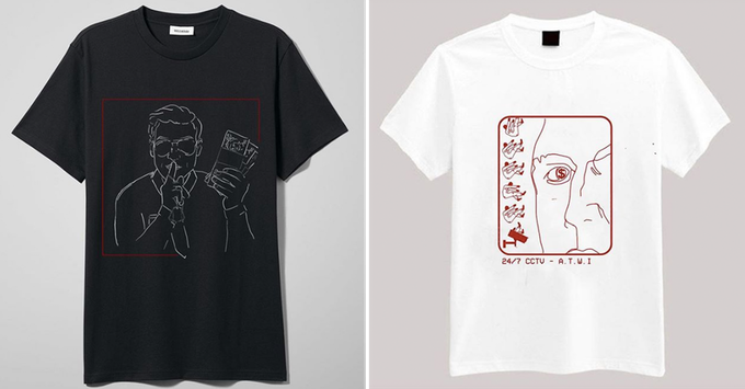 New T-Shirts designed for Fan Favourite - Level 2 (left) and Gooztees Fan Favourite - The Finale (right).