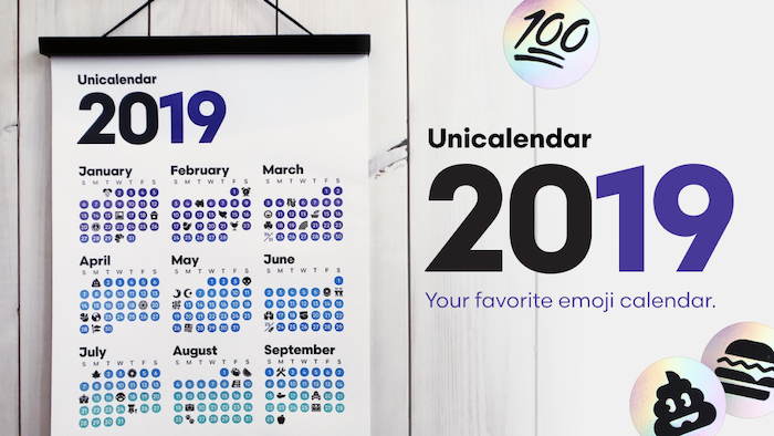A letterpress calendar and sticker collection for everyone who loves emoji.