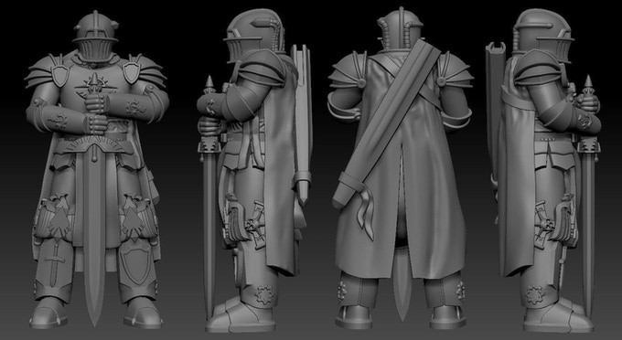 3D models of the Knight Envoy by Dark Wolf Studios
