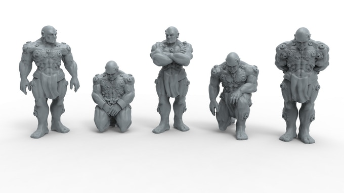 3D models of the Unarmoured Marines by Nuclear Shrimp