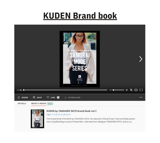 You can read our brand book on ISSUU