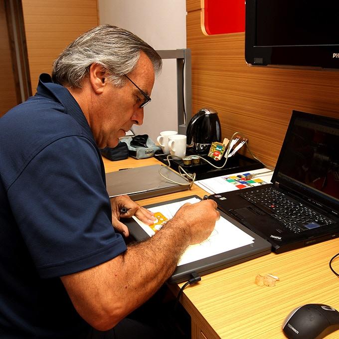 Giorgio at work