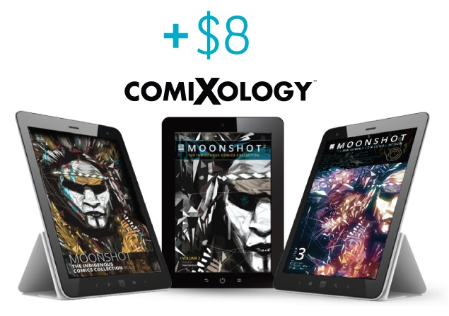Add $8 to any existing pledge to receive another digital copy of your choice - MOONSHOT Volume 1, 2 or 3!
