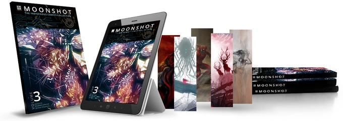 A plethora of packages including books, bookmarks, digital editions, hardcovers, signed art prints, combos and more!