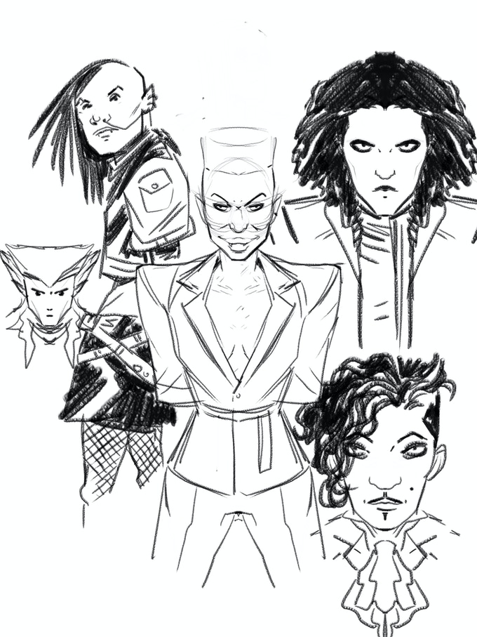 Glampires Design sheet One of the vampire gangs from Chase the Moon