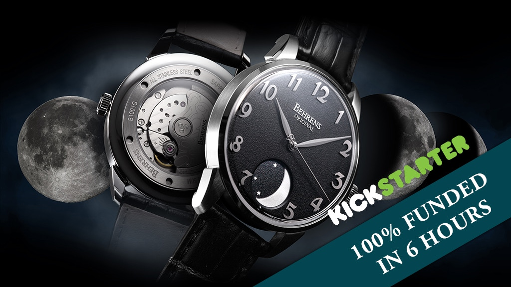 MOONPHASE automatic mechanical watch - by BEHRENS ORIGINAL project video thumbnail