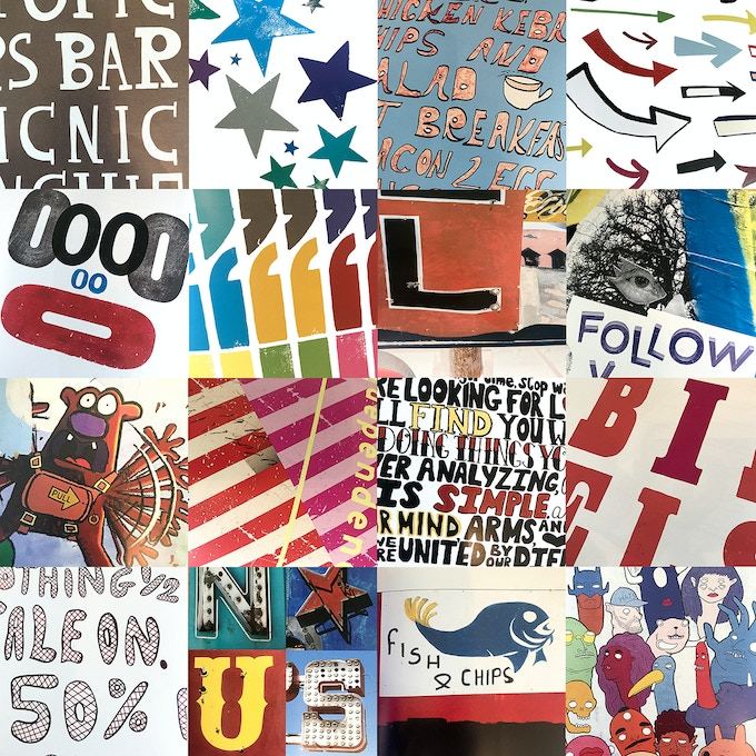 A montage of some of the graphics in the Elsie Magazine Annual