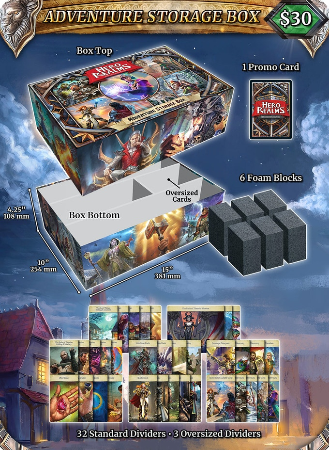 Big enough to hold the Everything Tier with or without sleeves and a playmat! Click for more info.
