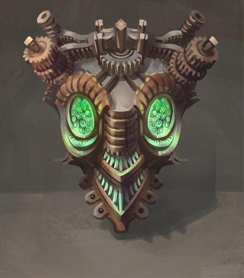 Clockwork Spiritmask (art credit Augstinas Raginskis)