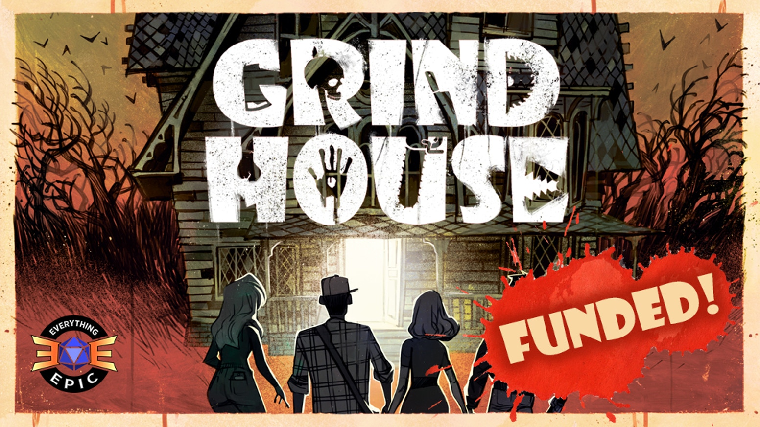 Grind House is a fun, fast-paced, narrative horror game for 2-6 players!  You're lucky if survival only costs an arm and a leg. ;)