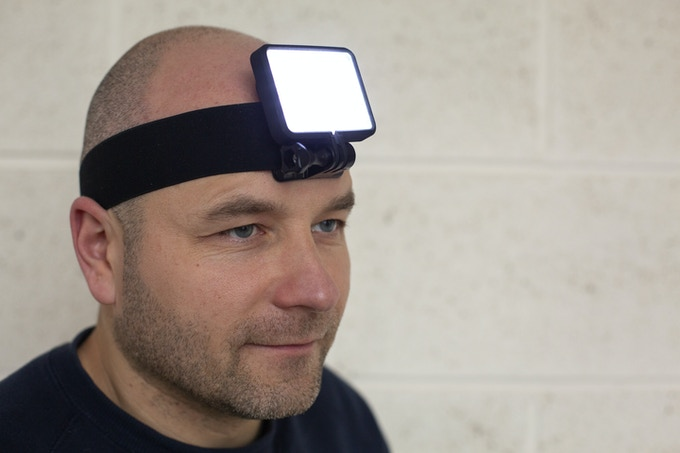 Have your very own Floodlight light your way with the head-strap attachment