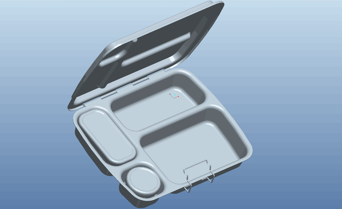 3D Render with the leak-proof pots inside