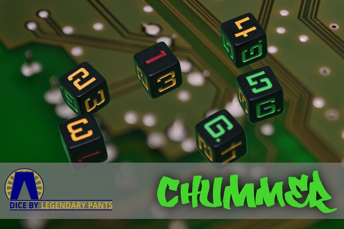 Running's always dangerous, so take every advantage you can get.  Good luck, chummer.  Black matte dice with 5,6 in Green, 2,3,4 in Amber, and 1 in Red.