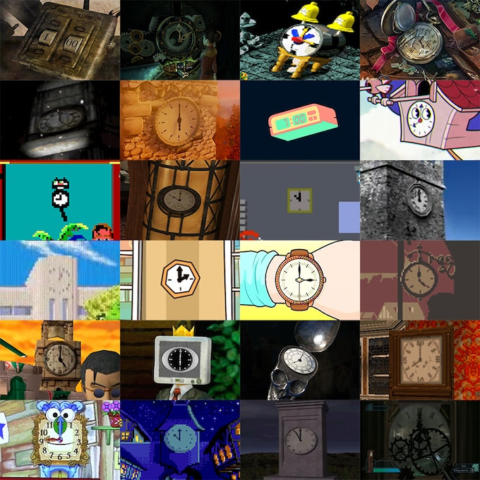 A clock for each hour of the day. Layout and clocks not final.