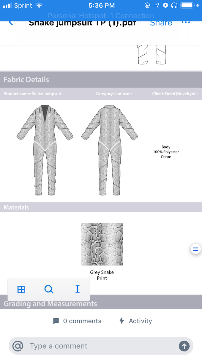 Baggy Snake skin, 100% polyester (windbreaker material) jumpsuit with reflective design