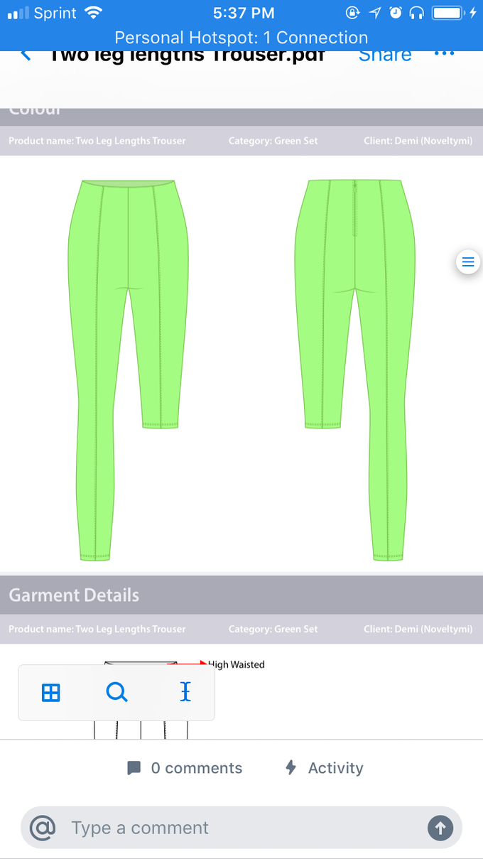 two length trousers (neon green) pants to crop top
