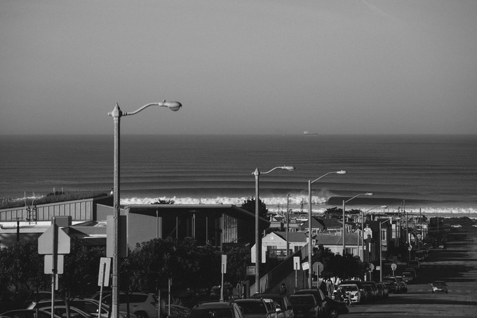 Winter lines at Ocean Beach