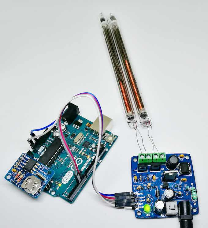 Arduino with RTC driving the tubes