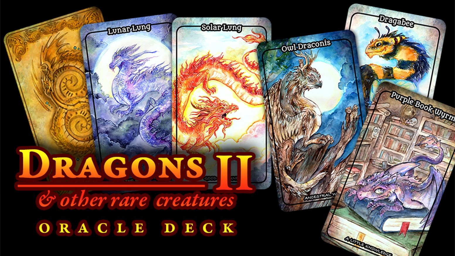 A new oracle deck featuring dragons and other fantastical creatures with collectible tin and book!
