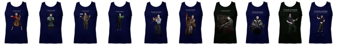 Tank-tops. Increase your Pledge Amount by £20 to add-on one t-shirt. Click to zoom.