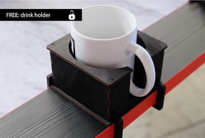 Gratis Tool Getränkehalter für jeden Tisch Unterstützer/ Free tool drink holder for every table backer