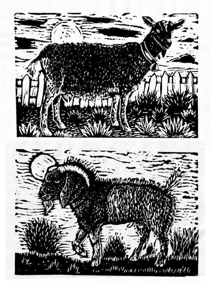 Block Prints created by Malinda especially for this Kickstarter