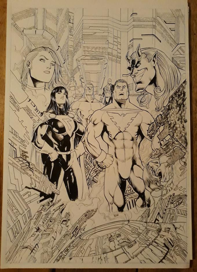 Issue 8 Original Cover Art Level